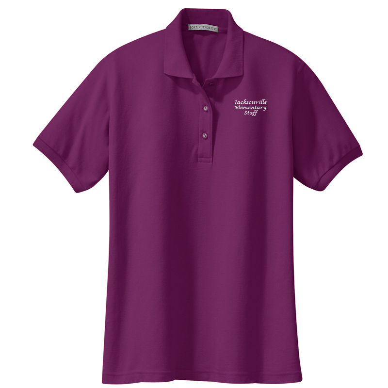 JES  Ladies Silk Touch Polo - Deep Berry
