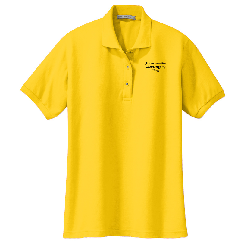 JES  Ladies Silk Touch Polo - Sunflower Yellow