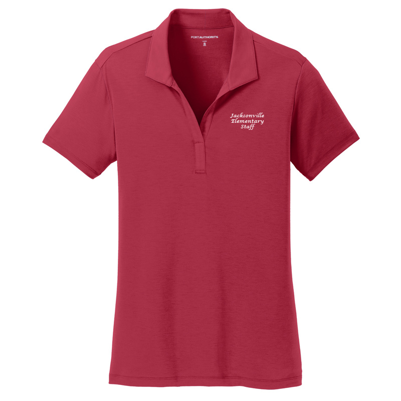 JES  Ladies Cotton Touch Polo - Chili Red