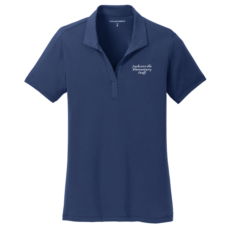 JES  Ladies Cotton Touch Polo - Estate Blue