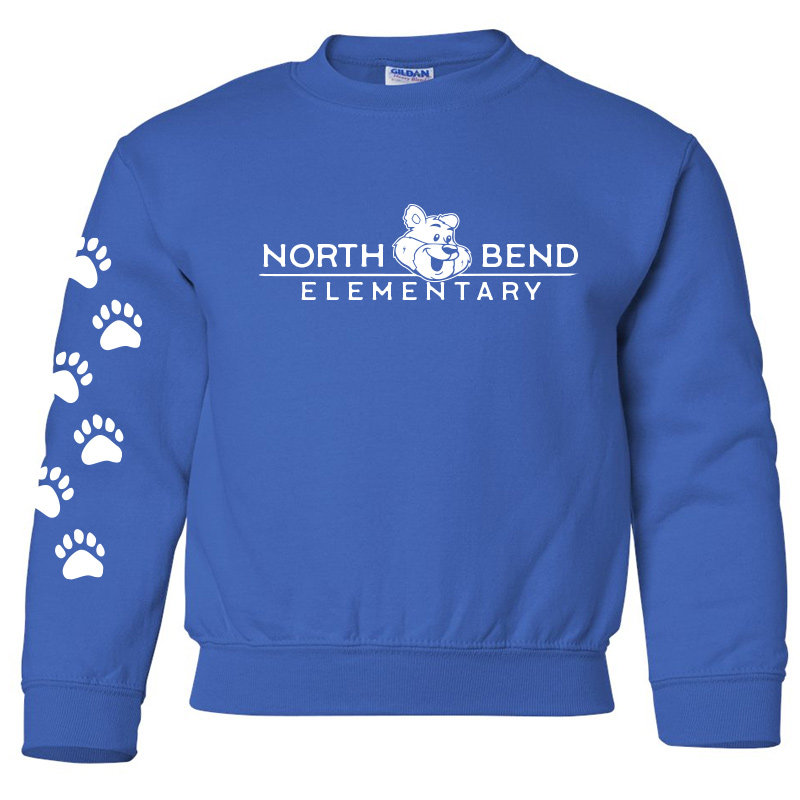 North Bend Elementary Crewneck Sweatshirt (Youth and Adult)  - royal