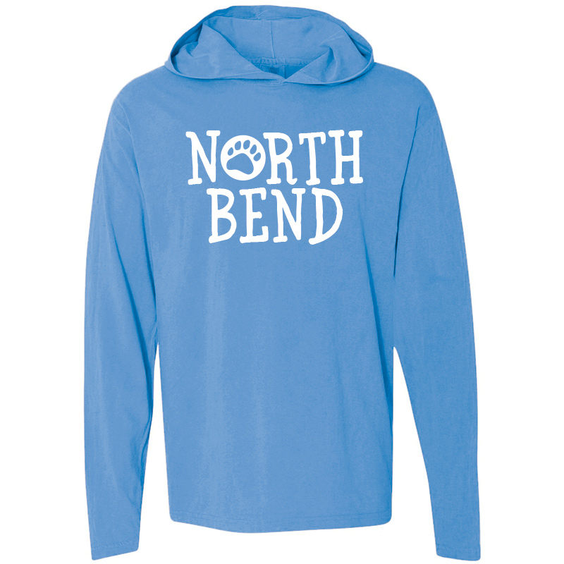 North Bend Long-Sleeve Hooded T-Shirt - royal caribe