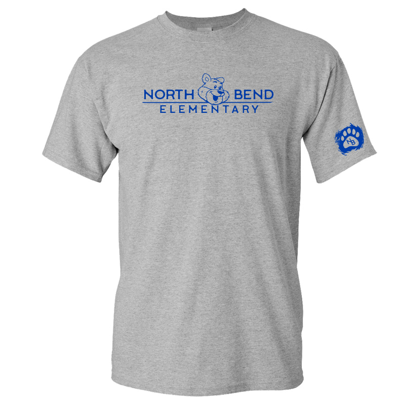 North Bend Elementary Cotton Adult T-Shirt (Youth and Adult)  - sportgrey