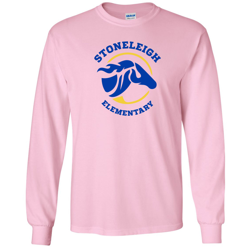 Stoneleigh Elementary Long Sleeve Tshirt-Light Pink