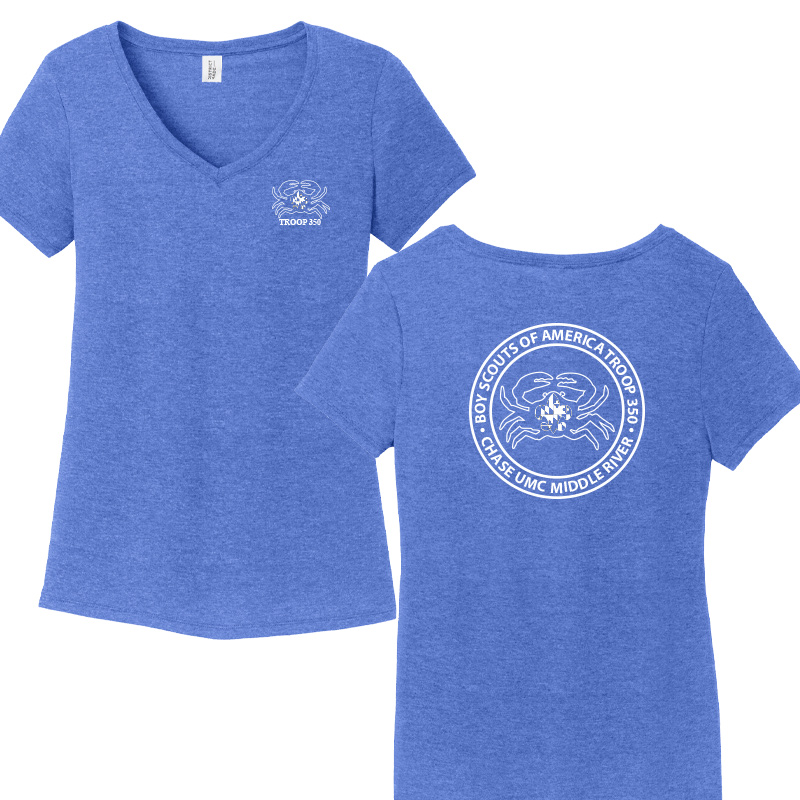 BSA 350 Women's Perfect Tri V-Neck Tee - Royal