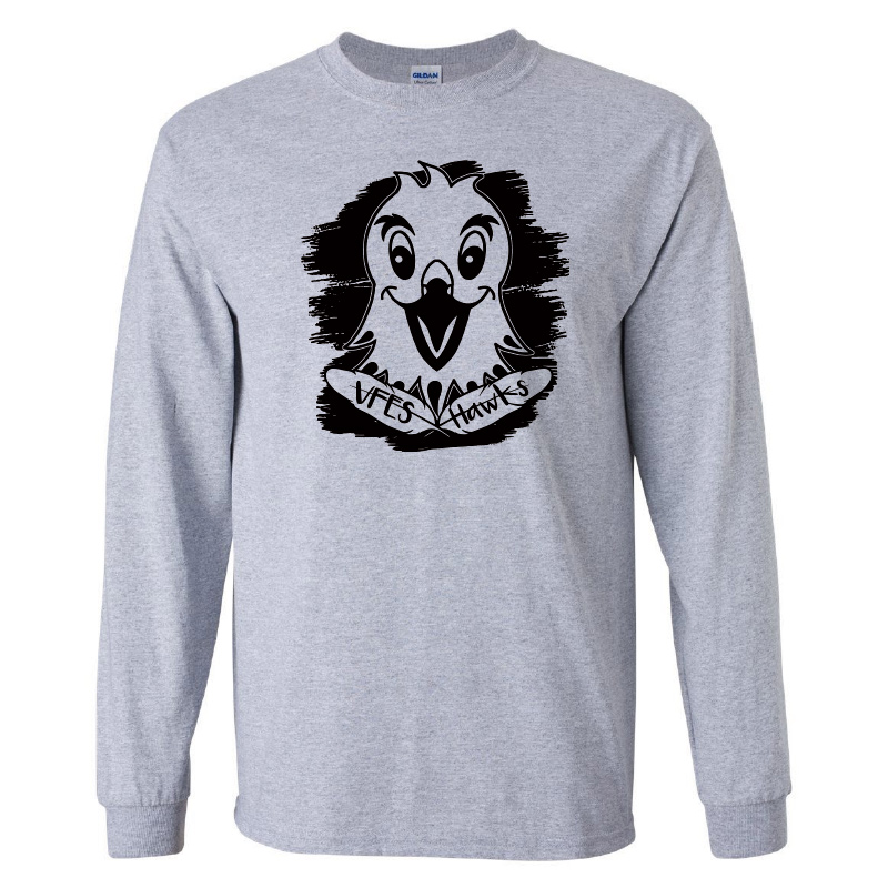 Vincent Farm 100% Cotton Long Sleeve Tshirt - Sport Grey