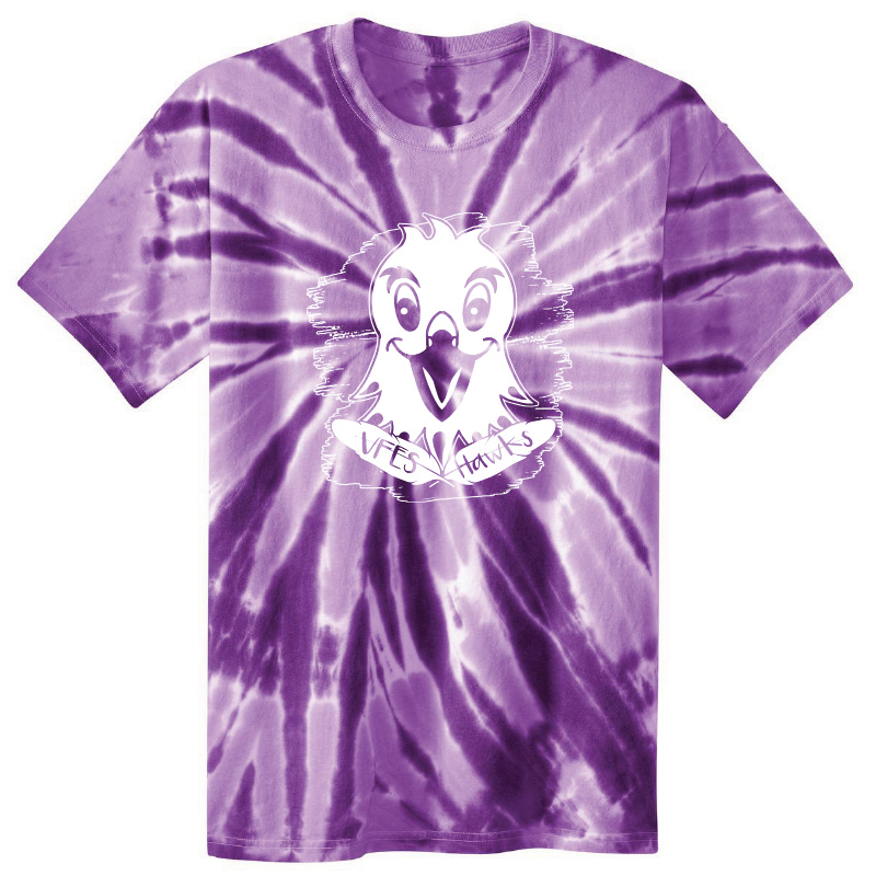 Vincent Farm  Short Sleeve Tie Dye Tshirt - Purple