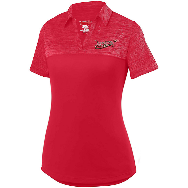 White Marsh Warriors Ladies Shadow Tonal Heather Polo-Red